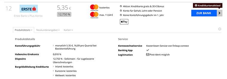 Kostenloses Girokonto mit Apple Pay
